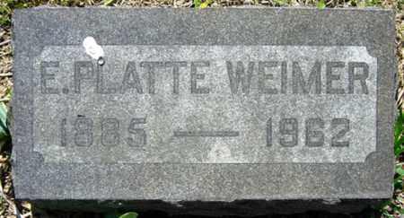 WEIMER, E. PLATTE - Wayne County, Ohio | E. PLATTE WEIMER - Ohio Gravestone Photos