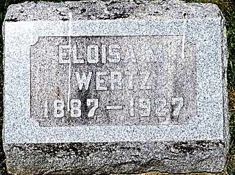 WERTZ, ELOISA - Wayne County, Ohio | ELOISA WERTZ - Ohio Gravestone Photos