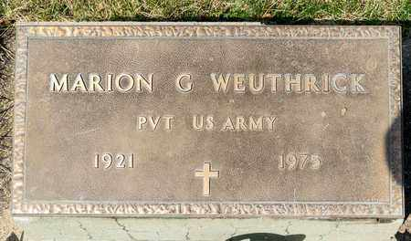 WEUTHRICK, MARION G - Wayne County, Ohio | MARION G WEUTHRICK - Ohio Gravestone Photos