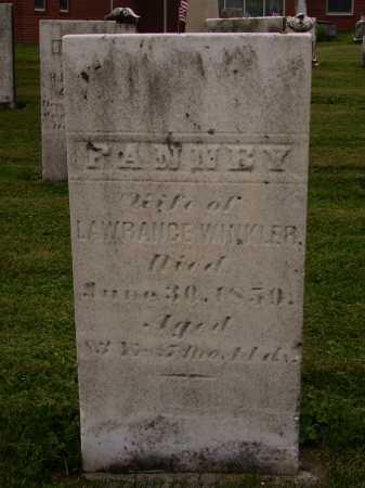WINKLER, FANNEY - Wayne County, Ohio   FANNEY WINKLER - Ohio Gravestone Photos