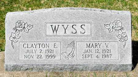 WYSS, MARY V - Wayne County, Ohio | MARY V WYSS - Ohio Gravestone Photos