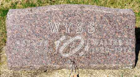 WYSS, ESTHER - Wayne County, Ohio | ESTHER WYSS - Ohio Gravestone Photos