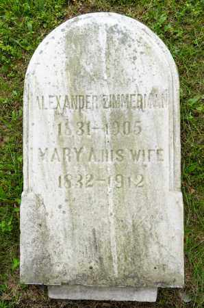 ZIMMERMAN, ALEXANDER - Wayne County, Ohio | ALEXANDER ZIMMERMAN - Ohio Gravestone Photos