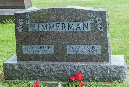 ZIMMERMAN, CLIFFORD R. - Wayne County, Ohio | CLIFFORD R. ZIMMERMAN - Ohio Gravestone Photos
