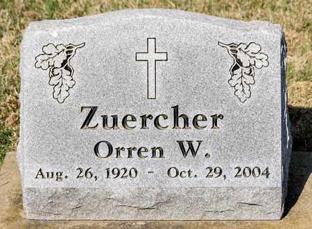 ZUERCHER, ORREN W - Wayne County, Ohio | ORREN W ZUERCHER - Ohio Gravestone Photos