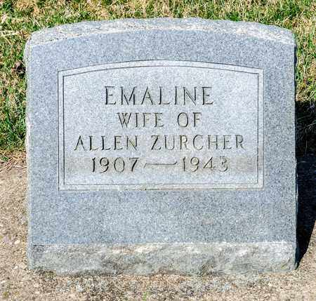 ZURCHER, EMALINE - Wayne County, Ohio | EMALINE ZURCHER - Ohio Gravestone Photos