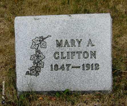 CLIFTON, MARY A. - Williams County, Ohio | MARY A. CLIFTON - Ohio Gravestone Photos