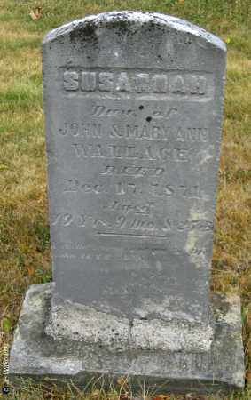 WALLACE, SUSANNAH - Williams County, Ohio | SUSANNAH WALLACE - Ohio Gravestone Photos