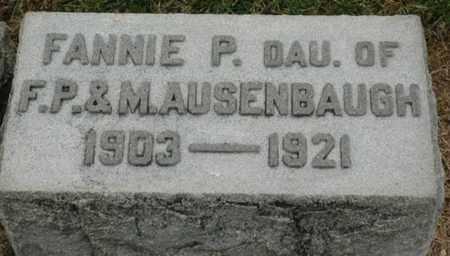 AUSENBAUGH, FANNIE P. - Wood County, Ohio   FANNIE P. AUSENBAUGH - Ohio Gravestone Photos