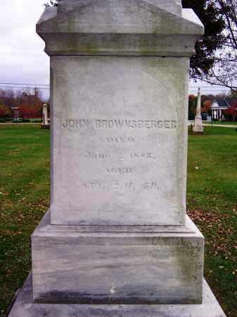 BROWNSBERGER, JOHN - Wood County, Ohio | JOHN BROWNSBERGER - Ohio Gravestone Photos