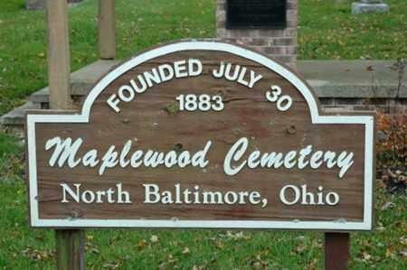 CEMETERY, SIGN - Wood County, Ohio | SIGN CEMETERY - Ohio Gravestone Photos