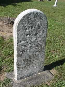 GROVER, MARY A. - Wood County, Ohio   MARY A. GROVER - Ohio Gravestone Photos