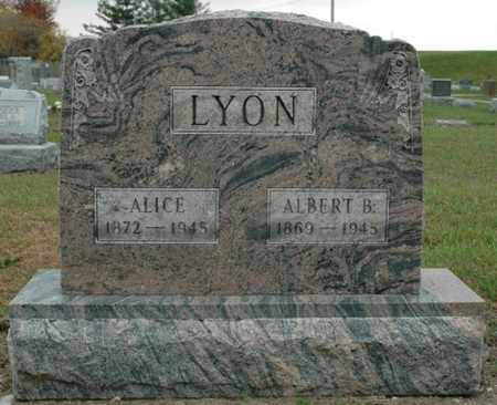 LYON, ALICE - Wood County, Ohio | ALICE LYON - Ohio Gravestone Photos