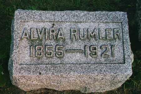 RUMLER, ALVIRA - Wood County, Ohio | ALVIRA RUMLER - Ohio Gravestone Photos