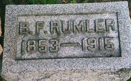 RUMLER, BENJAMIN FRANKLIN - Wood County, Ohio | BENJAMIN FRANKLIN RUMLER - Ohio Gravestone Photos