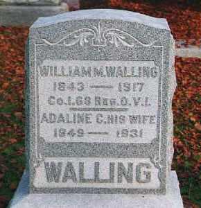 TODD WALLING, ADELINE CAROLINE - Wood County, Ohio | ADELINE CAROLINE TODD WALLING - Ohio Gravestone Photos