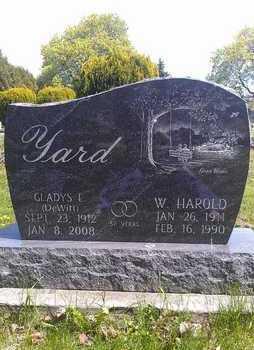 YARD, WILLIAM HAROLD - Wood County, Ohio | WILLIAM HAROLD YARD - Ohio Gravestone Photos