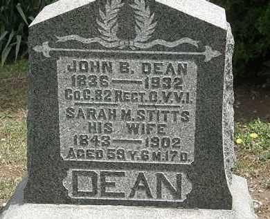 STITTS DEAN, SARAH M. - Wyandot County, Ohio | SARAH M. STITTS DEAN - Ohio Gravestone Photos