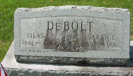 DEBOLT, SARAH E. - Wyandot County, Ohio | SARAH E. DEBOLT - Ohio Gravestone Photos