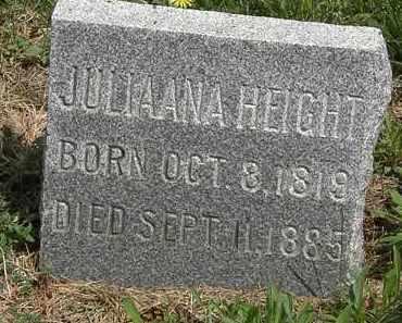 HEIGHT, JULIANNA - Wyandot County, Ohio | JULIANNA HEIGHT - Ohio Gravestone Photos