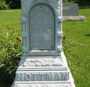 HOTTMAN, MARY E. - Wyandot County, Ohio | MARY E. HOTTMAN - Ohio Gravestone Photos