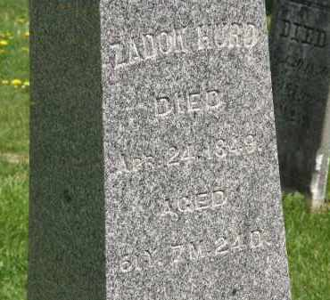 HURD, ZADOK - Wyandot County, Ohio   ZADOK HURD - Ohio Gravestone Photos