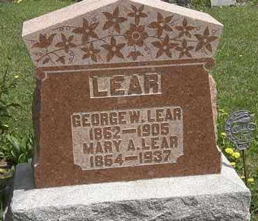 LEAR, GEORGE W. - Wyandot County, Ohio | GEORGE W. LEAR - Ohio Gravestone Photos