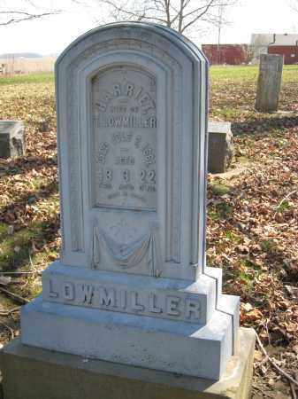 LOWMILLER, HARRIET - Wyandot County, Ohio   HARRIET LOWMILLER - Ohio Gravestone Photos