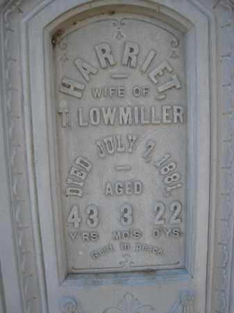 LOWMILLER, HARRIET (CLOSEUP) - Wyandot County, Ohio   HARRIET (CLOSEUP) LOWMILLER - Ohio Gravestone Photos