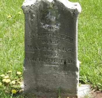 MCCLEARY, ALEXANDER - Wyandot County, Ohio | ALEXANDER MCCLEARY - Ohio Gravestone Photos