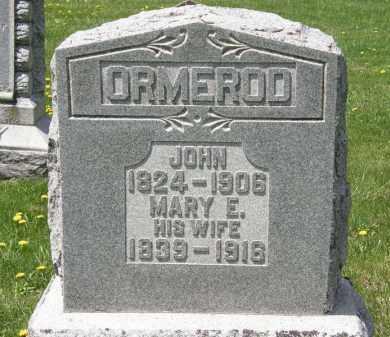 ORMEROD, MARY E. - Wyandot County, Ohio   MARY E. ORMEROD - Ohio Gravestone Photos
