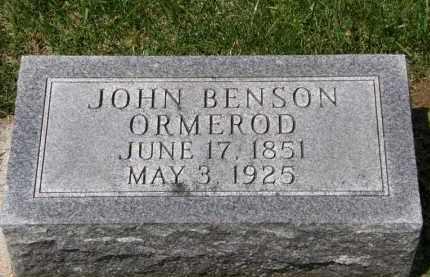 ORMEROD, JOHN BENSON - Wyandot County, Ohio | JOHN BENSON ORMEROD - Ohio Gravestone Photos