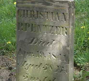 PENTZER, CHRISTIAN P. - Wyandot County, Ohio | CHRISTIAN P. PENTZER - Ohio Gravestone Photos
