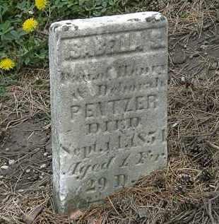 PENTZER, DEBORAH - Wyandot County, Ohio | DEBORAH PENTZER - Ohio Gravestone Photos