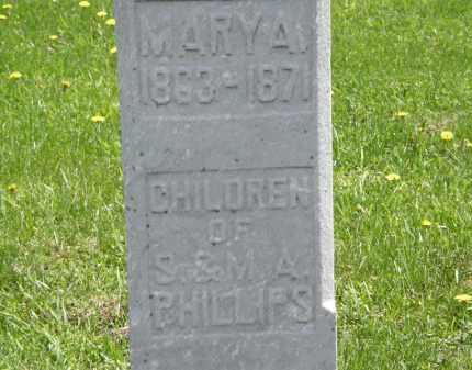 PHILLIPS, M.A. - Wyandot County, Ohio | M.A. PHILLIPS - Ohio Gravestone Photos