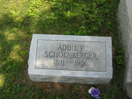 SCHOENBERGER, ADDIE FRANCIS - Wyandot County, Ohio | ADDIE FRANCIS SCHOENBERGER - Ohio Gravestone Photos