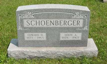 SCHOENBERGER, LEEFE ALMA - Wyandot County, Ohio | LEEFE ALMA SCHOENBERGER - Ohio Gravestone Photos