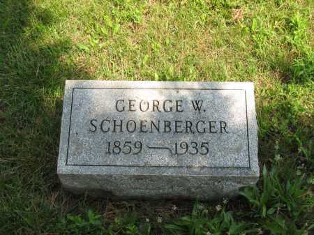 SCHOENBERGER, GEORGE W. - Wyandot County, Ohio | GEORGE W. SCHOENBERGER - Ohio Gravestone Photos