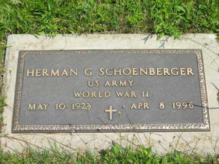 SCHOENBERGER, HERMAN G. - Wyandot County, Ohio | HERMAN G. SCHOENBERGER - Ohio Gravestone Photos