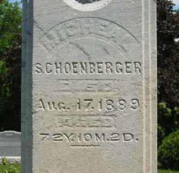 SCHOENBERGER, JOHAN MICHAEL - Wyandot County, Ohio   JOHAN MICHAEL SCHOENBERGER - Ohio Gravestone Photos