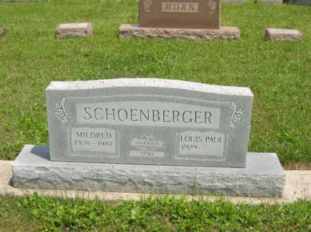 SCHOEMBERGER, MILDRED - Wyandot County, Ohio   MILDRED SCHOEMBERGER - Ohio Gravestone Photos
