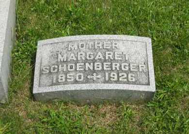 SCHOENBERGER, MARGARET - Wyandot County, Ohio   MARGARET SCHOENBERGER - Ohio Gravestone Photos