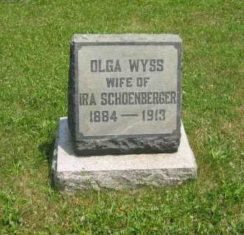 WYSS SCHOENBERGER, OLGA - Wyandot County, Ohio | OLGA WYSS SCHOENBERGER - Ohio Gravestone Photos