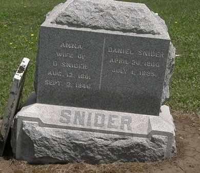 SNIDER, ANNA - Wyandot County, Ohio | ANNA SNIDER - Ohio Gravestone Photos