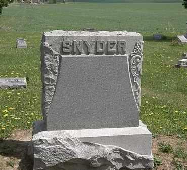 SNYDER, FAMILY MARKER - Wyandot County, Ohio   FAMILY MARKER SNYDER - Ohio Gravestone Photos