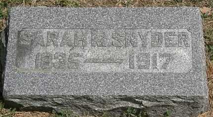 SNYDER, SARAH M. - Wyandot County, Ohio | SARAH M. SNYDER - Ohio Gravestone Photos
