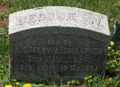 UNCAPHER, GEORGE W. - Wyandot County, Ohio | GEORGE W. UNCAPHER - Ohio Gravestone Photos