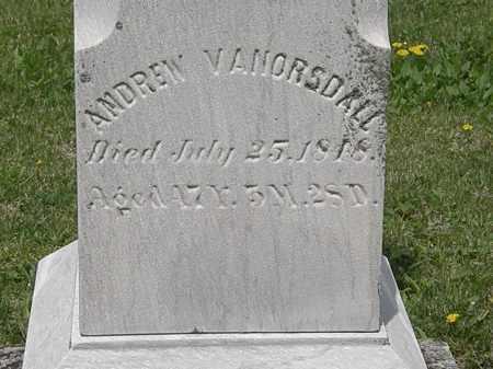 VANORSDALL, ANDREW - Wyandot County, Ohio   ANDREW VANORSDALL - Ohio Gravestone Photos