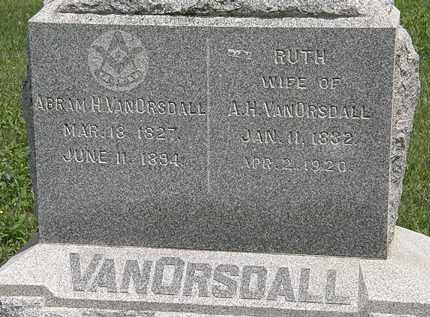 VANORSDALL, RUTH - Wyandot County, Ohio   RUTH VANORSDALL - Ohio Gravestone Photos