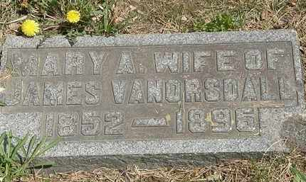 VANORSDALL, MARY A. - Wyandot County, Ohio | MARY A. VANORSDALL - Ohio Gravestone Photos